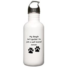 Well Trained Beagle Owner Water Bottle
