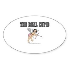 The Real Cupid (2) Oval Decal