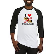 I Love Rockville Maryland Baseball Jersey