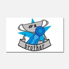 Worlds Best Brother Car Magnet 20 x 12