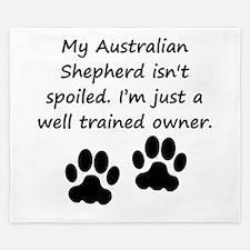 Well Trained Australian Shepherd Owner King Duvet
