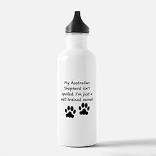 Well Trained Australian Shepherd Owner Water Bottl