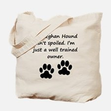 Well Trained Afghan Hound Owner Tote Bag