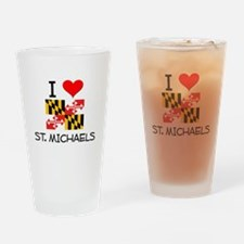 I Love St. Michaels Maryland Drinking Glass