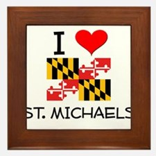 I Love St. Michaels Maryland Framed Tile
