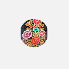 Mexican Embroidery Design Mini Button