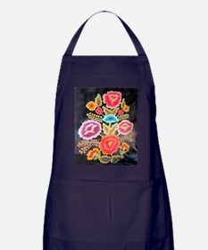 Mexican Embroidery Design Apron (dark)
