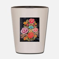Mexican Embroidery Design Shot Glass