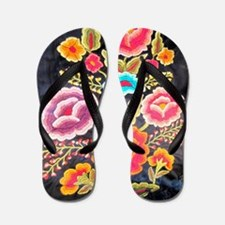 Mexican Embroidery Design Flip Flops