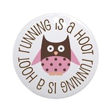 Running Is A Hoot Ornament (Round)