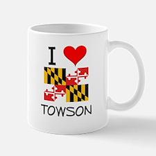 I Love Towson Maryland Mugs