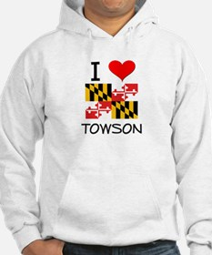 I Love Towson Maryland Hoodie