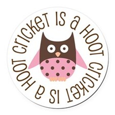 Cricket Is A Hoot Round Car Magnet