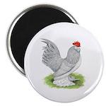 Self Blue Rooster Magnet