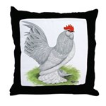 Self Blue Rooster Throw Pillow
