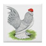 Self Blue Rooster Tile Coaster