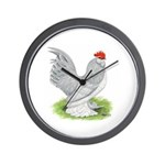 Self Blue Rooster Wall Clock