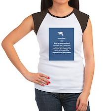Keep calm and write Women's Cap Sleeve T-Shirt