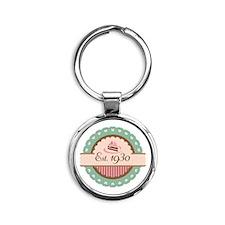 1930 Birth Year Birthday Round Keychain