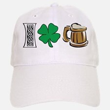 I Love Beer Irish Baseball Baseball Cap