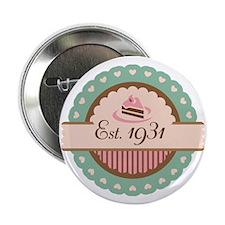 "1931 Birth Year Birthday 2.25"" Button"