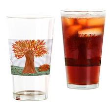 Autumn Tree Drinking Glass