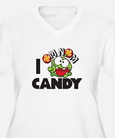 CUT THE ROPE - I OM NOM CANDY Plus Size T-Shirt