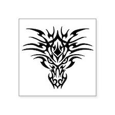 """Tribal Dragon Tattoo Square Sticker 3"""" x 3"""""""