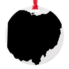 Black Ohio Ornament