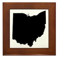 Black Ohio Framed Tile