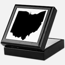 Black Ohio Keepsake Box