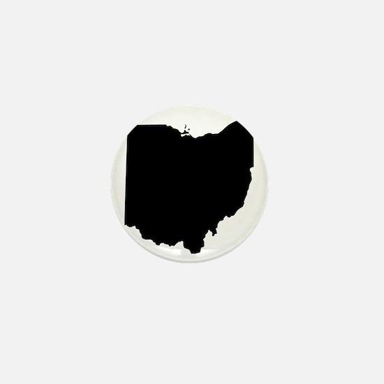 Black Ohio Mini Button