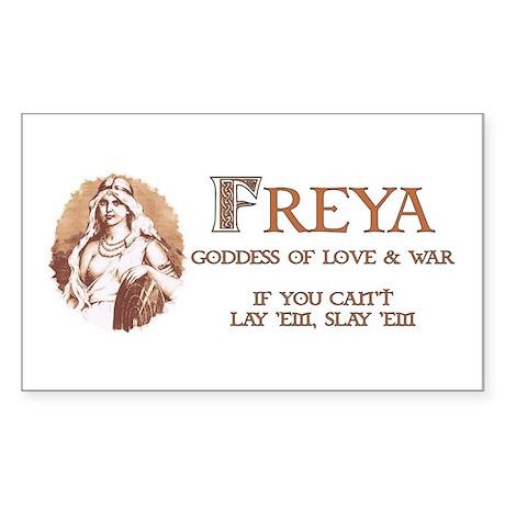 Freya Goddess of Love & War Rectangle Sticker