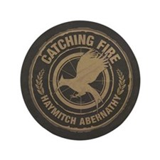 "Catching Fire Haymitch Abernathy 3.5"" Button"