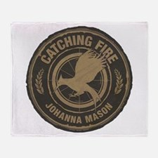 Catching Fire Johanna Mason Throw Blanket