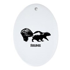 Skunk Logo Ornament (Oval)