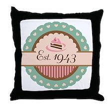 1943 Birth Year Birthday Throw Pillow