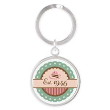 1946 Birth Year Birthday Round Keychain