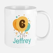 Personalized 6th Birthday Balloons Mugs