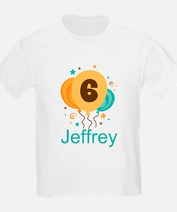 Personalized 6th Birthday Balloons T-Shirt
