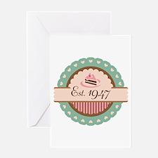 1947 Birth Year Birthday Greeting Card