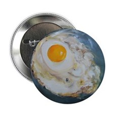 """Fried Egg 2.25"""" Button"""