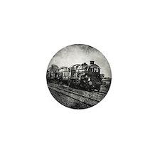vintage steam train Mini Button
