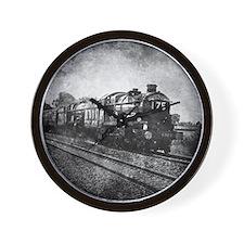 vintage steam train Wall Clock