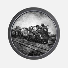 vintage steam train Wall Clock