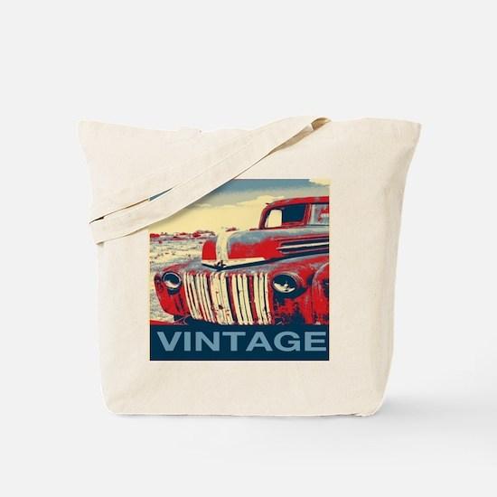 vintage farm truck Tote Bag