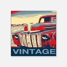 "vintage farm truck Square Sticker 3"" x 3"""