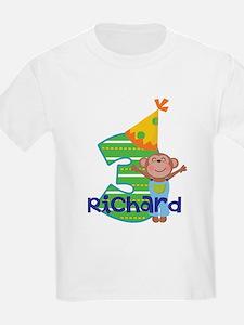 Personalized 3rd Birthday Monkey T-Shirt
