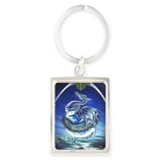 Earth Dragon Portrait Keychain