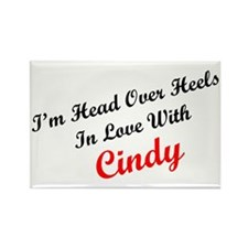 In Love with Cindy Rectangle Magnet